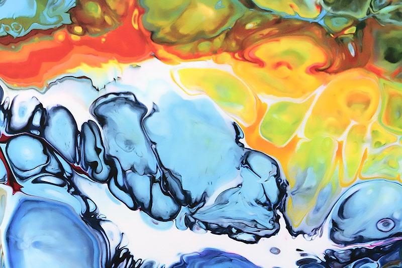 Details von abstrakter gegenwärtiger Kunst Fragments II 70x140 cm