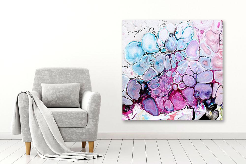 Grosse Wandbilder XXL für die Wand im Wohnzimmer Moments II 100x100 cm