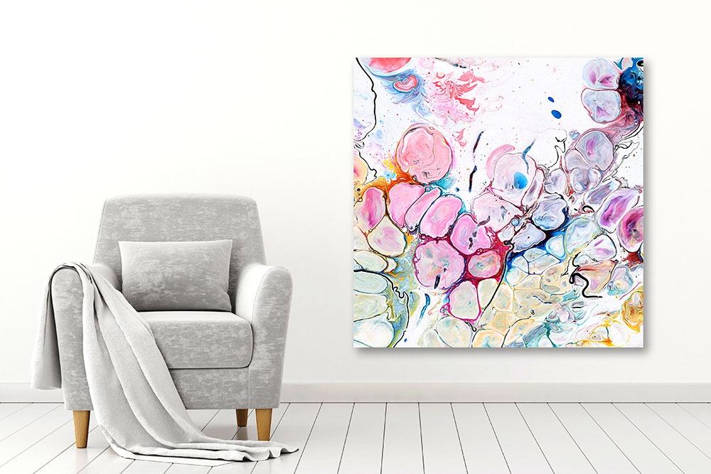Moderne Wandbilder in trendigen Farben Moments III 100x100 cm