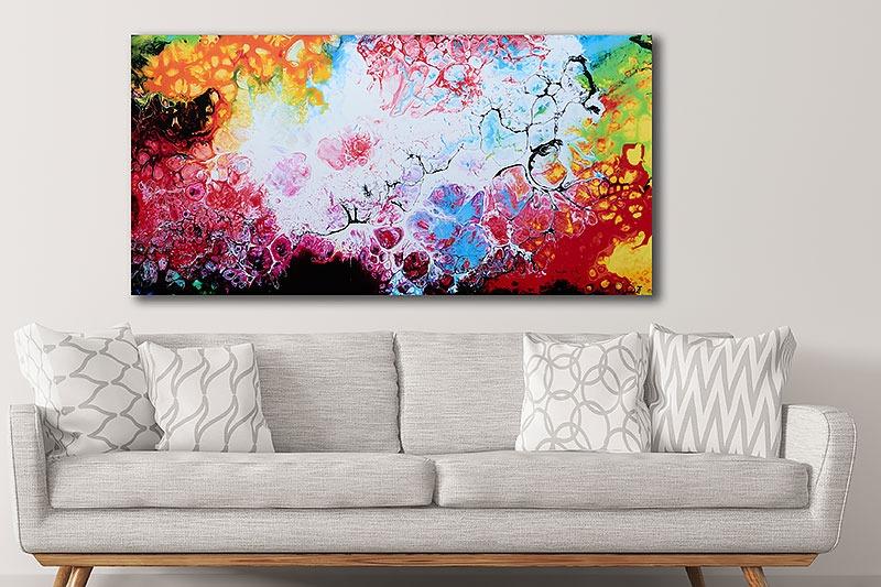 Schöne Leinwandbilder für die Wohnung Fragments III 70x140 cm