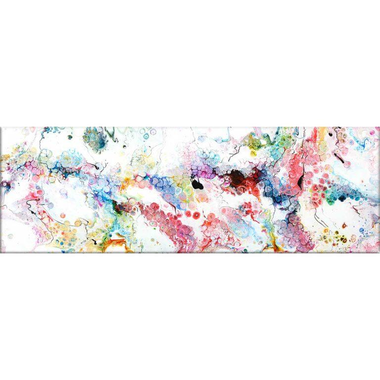 Abstrakter Leinwanddruck in einem abwechslungsreichen Kunstdesign Alleviate I 40x120 cm
